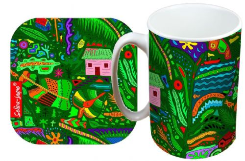 Selina-Jayne Tropical Island Limited Edition Designer Mug and Coaster Gift Set